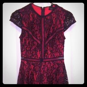Disney's Snow white black and red lace dress